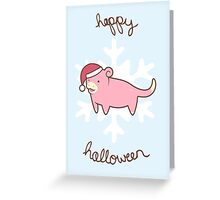 Slowpoke Christmas Greeting Card