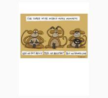 the three wise middle aged monkeys by Jon Kudelka