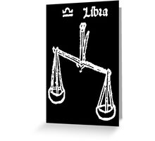 Signs of the Zodiac, LIBRA, The Scales, Horoscope, Birth sign Greeting Card