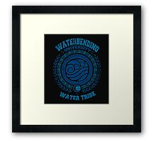 Waterbending university Framed Print
