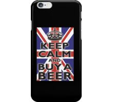UNION JACK, FLAG, KEEP CALM & BUY A BEER, UK iPhone Case/Skin