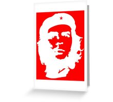Che Guevara, Cuba, Peoples Revolution, in white Greeting Card
