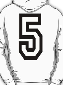 TEAM SPORTS, NUMBER 5, FIFTH, FIVE, Competition,  T-Shirt