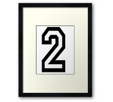 TEAM SPORTS, NUMBER 2, TWO, SECOND, Competition Framed Print