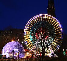 Christmas in Edinburgh Princes Street by Chris Clark