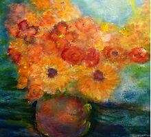 Autumn Flowers Art Designed Decor & Gifts by innocentorigina