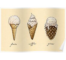 Ice-Cream Cones Poster