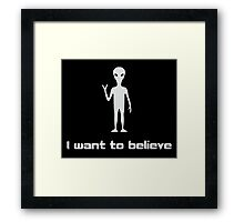 I Want To Believe in Aliens and UFOs Framed Print
