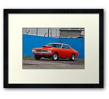 Orange Holden HQ Monaro Framed Print