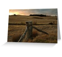 Sunset,Pyrenees near Amphitheatre Greeting Card