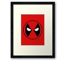 Hero Circles - Deadpool Framed Print