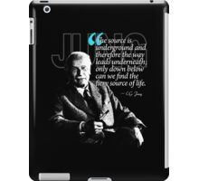 A Quote from Carl Gustav Jung Quote #13 of 50 available iPad Case/Skin