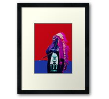 Indian Chief - Red White and Blue Framed Print
