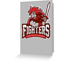 Fantasy League Fighters Greeting Card