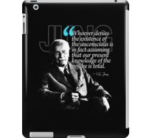 A Quote from Carl Gustav Jung Quote #23 of 50 available iPad Case/Skin