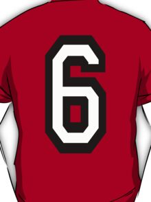 TEAM SPORTS, NUMBER 6, SIX, SIXTH, Competition T-Shirt