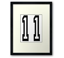 TEAM SPORTS NUMBER, 11, Eleven, Eleventh, Competition Framed Print