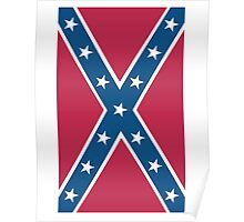 Confederate, Southern Cross, Rebel, Dixie, Flag, Portrait, Pure & Simple, pre USA Poster