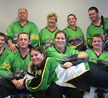 Senior C (Green) team Winter 2007 season by Lilydale Rats Inline Hockey Club