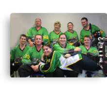 Senior C (Green) team Winter 2007 season Canvas Print