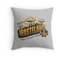 Greetings from the Wasteland! Throw Pillow
