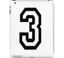 TEAM SPORTS, NUMBER 3, THREE, THIRD, Competition iPad Case/Skin