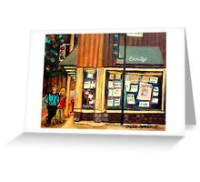 BEAUTY'S RESTAURANT WITH YOUNG COUPLE Greeting Card