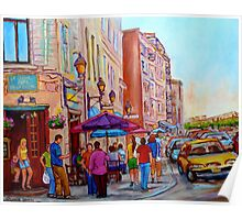 PAINTINGS OF OLD MONTREAL STREETS LA CREME DE LA CREME Poster