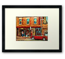 MOISHE'S STEAKHOUSE MONTREAL Framed Print