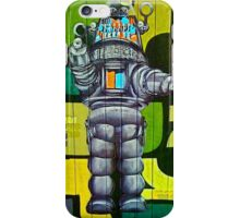 Robbie the Robot Street Art! iPhone Case/Skin