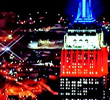 Empire State Building Abstract by Gilda Axelrod