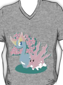 Corsola and Amaura in Spring T-Shirt
