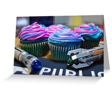 Timey Wimey Cupcakes Greeting Card