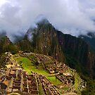 Machu Picchu< peru, Overlook by Catherine Sherman