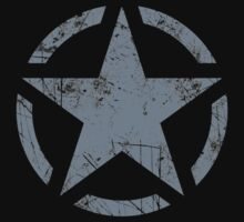 Star Stencil Vintage Jeep Decal Grunge Style by Garaga