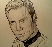 Captain Kirk, William Shatner drawing by RobCrandall
