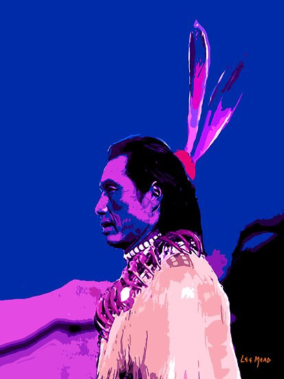 Chief with Blue Sky by Tracy Lee Mead