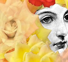 Echoed Roses and Woman  by Ivana Redwine