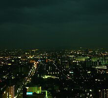 Japan - An Airel Night in Kyoto 4 by tmac