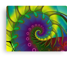 Hippie Stained Glass Canvas Print