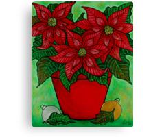 Poinsettia Season Canvas Print