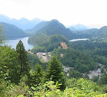 The view from Neuschwanstein by charuavi