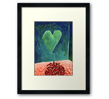 Shattered Heart Framed Print