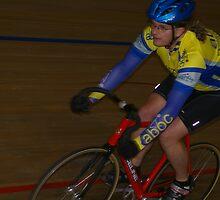 Cyclist on Velodrome by Bleve