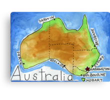 Australia's Capital Canvas Print