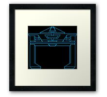 Recognizer Blue Framed Print