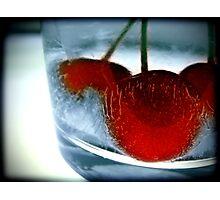 Ice Cherry Photographic Print