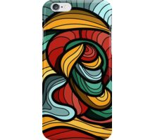 Abstract Art Curves iPhone Case/Skin