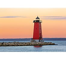 Morning at Manistique Lighthouse Photographic Print