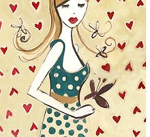 Girl in a Polka Dotted Dress by Anita Ristovski